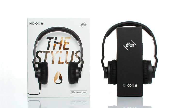 The Nixon audio line has an attention-grabbing shelf presence, while aligning with the Nixon brand aesthetic.