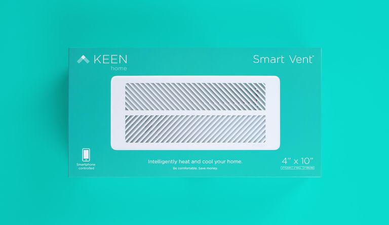 Elegantly blending function with branded appeal, this packaging showcases the first smart vent, one more option for the modern connected home.
